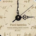 zegar z grawerem na prezent dla matematyka