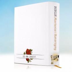 biblia na prezent z okazji ślubu z personalizowaną okładką