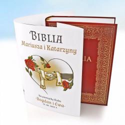 spersonalizowana biblia na prezent dla pary młoedej