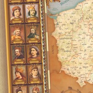 mapa polski na prezent dla taty