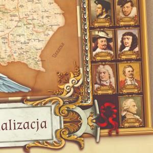 mapa polski z portretami władców dla taty na prezent