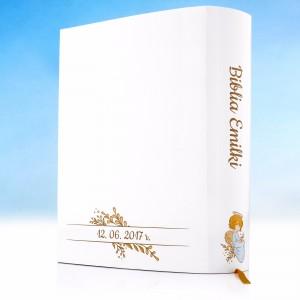biblia na prezent z okazji komunii z personalizacją