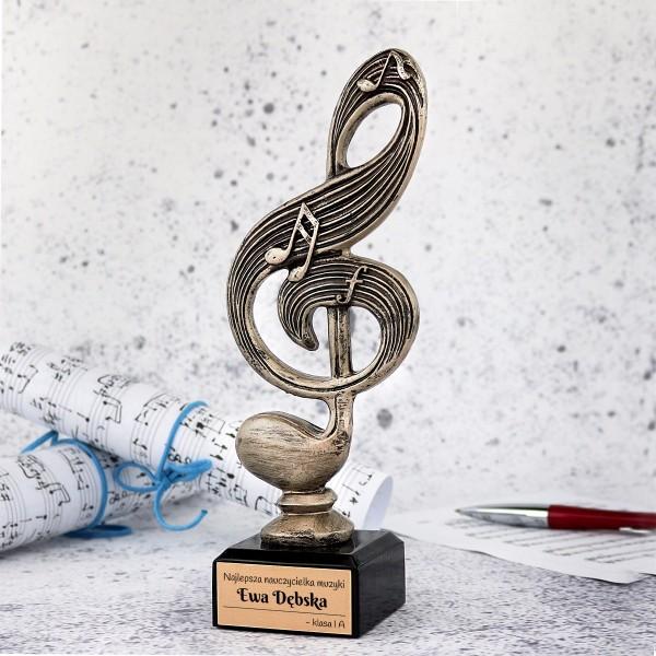 statuetka z grawerem na prezent dla nauczyciela muzyki