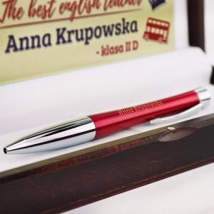 prezent dla nauczyciela angielskiego długopis Parker w etui