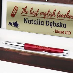 długopis Parker dla anglisty z dedykacją