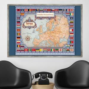 mapa w ramie dla nauczyciela
