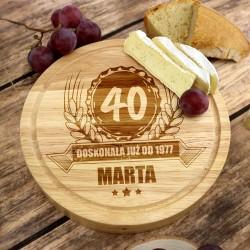deska do sera z grawerem z okazji urodzin