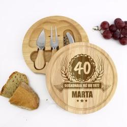 deska do sera prezent z okazji 40 urodzin dla niej
