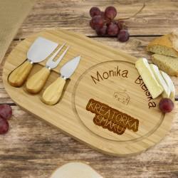 deska do serów w zestawie na prezent dla kucharza