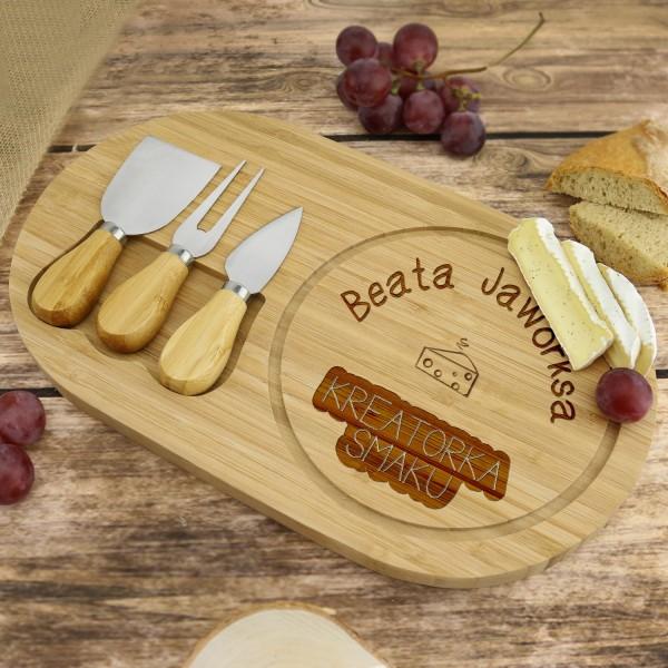 personalizowana deska do sera na prezent dla niej