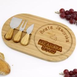 prezent z grawerem dla kucharza zestaw do serów