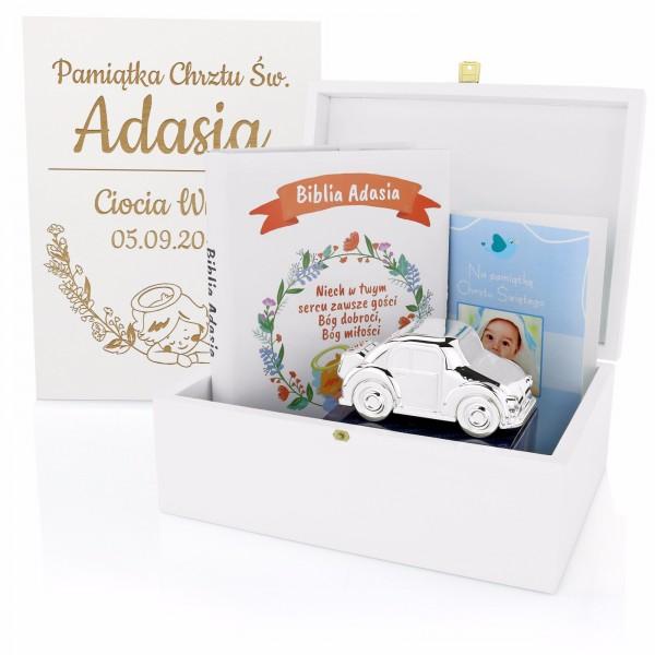 zestaw prezentowy na chrzest dla chłopczyka