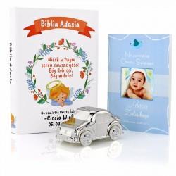 prezenty z personalizacją  na chrzest dla chłopczyka