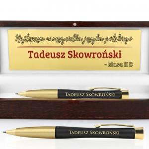 długopis Parker Urban Muted Black GT z grawerem na prezent dla nauczyciela