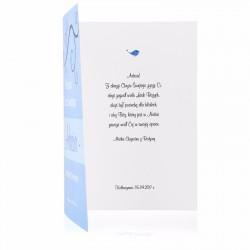 spersonalizowana kartka z życzeniami z okazji chrztu