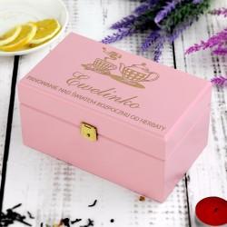 pudełko na herbatę z grawerem na prezent