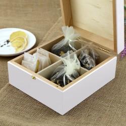 pudełko na herbatę z grawerem na urodzinowy prezent