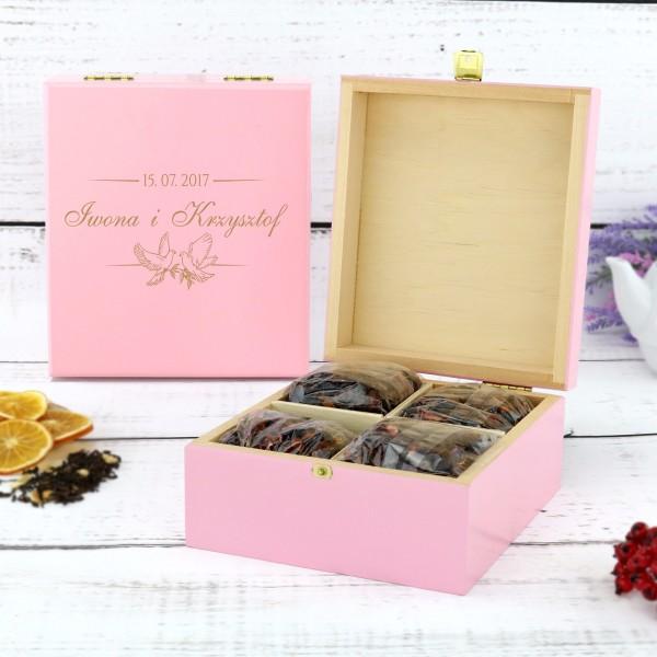pudełko na herbatę na prezent dla pary