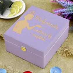 spersonalizowane pudełko na herbatę na prezent