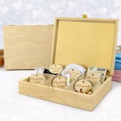 szkatułka z drewna  z personalizacją na prezent