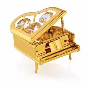pozłacany fortepian Swarovski na prezent
