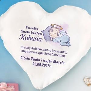 poduszka z nadrukiem dla dziecka na prezent z okazji chrztu