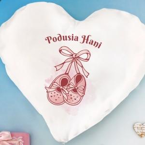 poduszka serce z personalizowanym nadrukiem na prezent dla dziecka