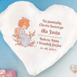 poduszka z personalizacją na upominek z okazji chrztu