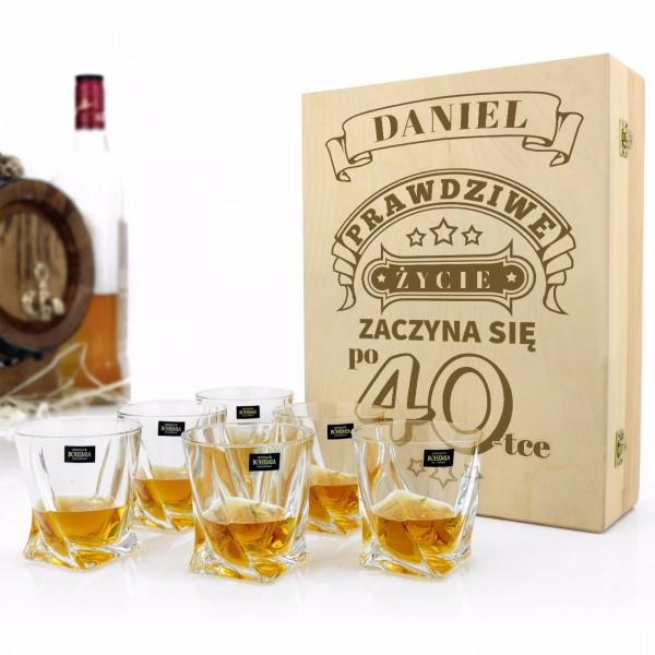 zestaw szklanek do whisky z grawerem