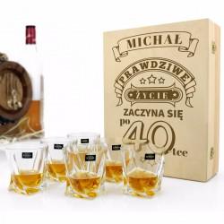 zestaw do whisky z grawerem na prezent