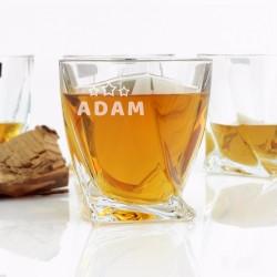 grawerowane szklanki do whiskey na prezent na urodziny