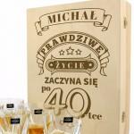zestaw do whisky na prezent z okazji 40 urodzin