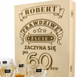 szklanki do whisky w pudełku z grawerem na upominek z okazji urodzin