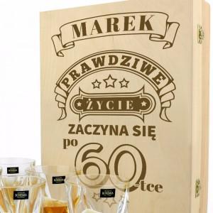 elegancki zestaw do whisky na prezent na 40 urodziny