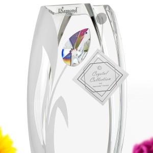 wazon kryształowy z dedykacją na podziękowania dla rodziców