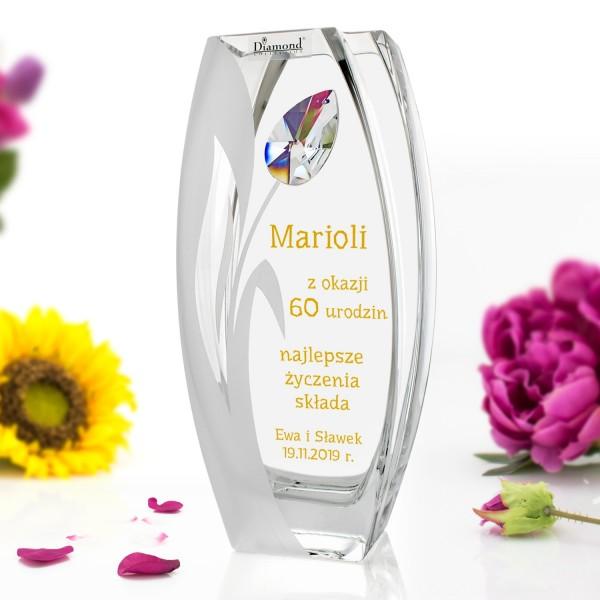 wazon z grawerem na 60 urodziny