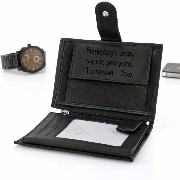 portfel z grawerem na prezent dla niego