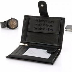 skórzany portfel na prezent z grawerem