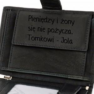 męski portfel ze skóry na prezent z okazji urodzin