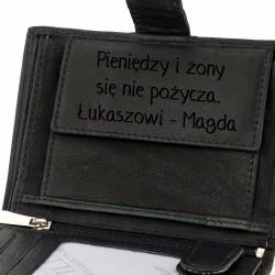 skórzany portfel męski na prezent