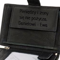 portfel męski na prezent na urodziny