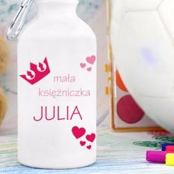 bidon z nadrukiem imienia dla dziewczynki na prezent
