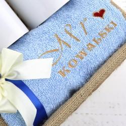 ręcznik z haftem na prezent dla pary