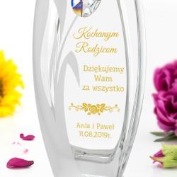 personalizowany wazon na podziękowania dla rodziców