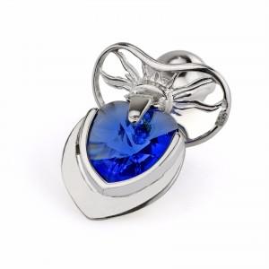 smoczek z szafirowym kryształem na prezent