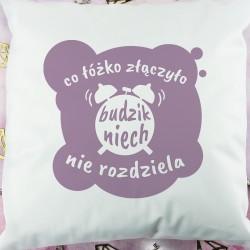 ozdobna poduszka z zabawnym tekstem na upominek