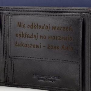 męski portfel z grawerem na prezent z okazji urodziny