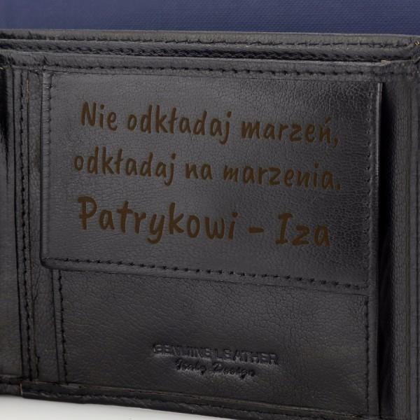 męski portfel na prezent na urodziny dla niego