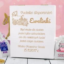 pudełko wspomnień na prezent dla dziewczynki na chrzest