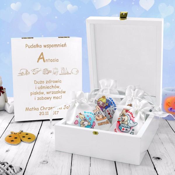 pudełko wspomnień na prezent dla chłopczyka